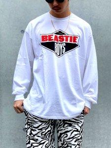 RAPTEES(ラップティーズ) RAPTEES(ラップティーズ) BEASTIE BOYS L/S TEE (ビースティーボーイズ 長袖Tシャツ) WHITE