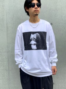 <img class='new_mark_img1' src='//img.shop-pro.jp/img/new/icons24.gif' style='border:none;display:inline;margin:0px;padding:0px;width:auto;' />【40%OFF】RAPTEES(ラップティーズ) BIG L PHOTO L/S TEE ( 半袖Tシャツ) WHITE