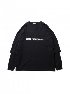 COOTIE (クーティー) Cellie L/S Tee (COOTIE LOGO) (ロングスリーブTEE) Black x Black