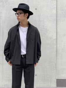 ARTIFICIAL SWEETENER (アーティフィシャルスウィートナー) オーバーサイズシャツ BLACK