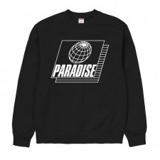 Paradise Youth Club(パラダイス ユース クラブ)STRETCH SWEATER (プリントスェット) BLACK