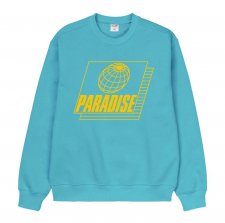 Paradise Youth Club(パラダイス ユース クラブ)STRETCH SWEATER (プリントスェット) TURQUOISE