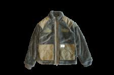 WAX (ワックス) Fleece zip up jacket (フリースジャケット) KHAKI