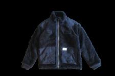 WAX (ワックス) Fleece zip up jacket (フリースジャケット) BLACK