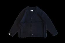 WAX (ワックス) Wool mix cardigan (ウールミックスカーディガン) BLACK