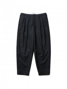 COOTIE (クーティー) Wool 2 Tuck Trousers (ウールツータックトラウザー) Black