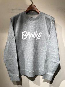 BANKS (バンクス) OUTRO FLEECE (プリントスウェット) HEATHER GRAY