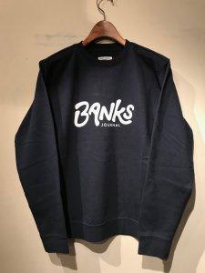 BANKS (バンクス) OUTRO FLEECE (プリントスウェット) DIRTY DENIM