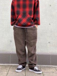 TONY TAIZSUN (トニータイズサン) REDWOOD PANTS (ボアフリースパンツ) CHARCOAL GRAY