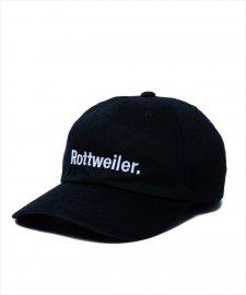 ROTTWEILER (ロットワイラー) R・W Dad Cap (刺繍ロゴキャップ) BLACK