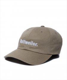 ROTTWEILER (ロットワイラー) R・W Dad Cap (刺繍ロゴキャップ) KHAKI