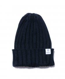 ROTTWEILER (ロットワイラー) Knit Cap (コットンニットキャップ) BLACK
