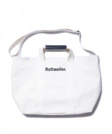 ROTTWEILER (ロットワイラー) Canvas Tote Bag Large (2WAYバッグ) WHITE