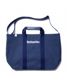 ROTTWEILER (ロットワイラー) Canvas Tote Bag Large (2WAYバッグ) NAVY