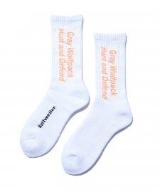 ROTTWEILER (ロットワイラー) Spell Socks (ソックス) ORANGE