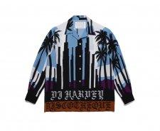 【残り1点】WACKO MARIA (ワコマリア) DJ HARVEY / L/S HAWAIIAN SHIRT(長袖ハワイアンシャツ) BLUE