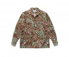 WACKO MARIA (ワコマリア) LEOPARD FLANNEL OPEN COLLAR SHIRT(レオパードフランネルオープンカラーシャツ) GREEN
