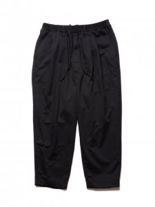 COOTIE (クーティー) T/C 2 Tuck Easy Pants(T/Cツータックイージーパンツ) Black