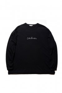 COOTIE (クーティー)   Print L/S Tee (LETTERED)  (プリントロングスリーブTee )  Black
