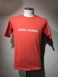 【40%OFF】BANKS (バンクス) LABEL TEE SHIRT(レーベルTシャツ) DARK ORANGE