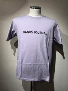 BANKS (バンクス) LABEL TEE SHIRT(レーベルTシャツ) OLD MAUVE