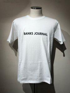 【40%OFF】BANKS (バンクス) LABEL STAPLE TEE SHIRT (レーベルTシャツ) OFF WHITE