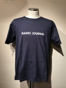 BANKS (バンクス) LABEL STAPLE TEE SHIRT (レーベルTシャツ) DIRTY DENIM