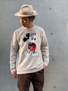 JACKSON MATISSE (ジャクソンマティス) MickeyMouse Sweat (ミッキーマウス加工スウエット) Gray