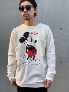 JACKSON MATISSE (ジャクソンマティス) MickeyMouse Sweat (ミッキーマウス加工スウエット) White