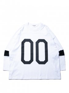 COOTIE (クーティー)  Hockey L/S Tee (ホッケーL/S Tee )White×Black