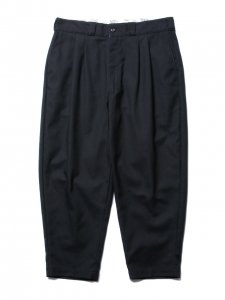 COOTIE (クーティー) T/C Hopsack 2 Tuck Trousers(T/Cツータックトラウザー) Black