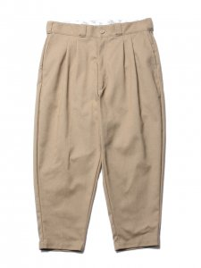 COOTIE (クーティー) T/C Hopsack 2 Tuck Trousers(T/Cツータックトラウザー) Beige