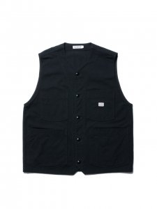 COOTIE (クーティー)  Rough Twill Work Vest(ワークベスト)Black