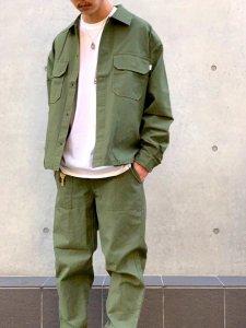 WAX (ワックス) Short fatigue jacket (ショートファティーグジャケット) KHAKI