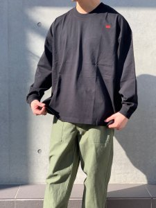 <img class='new_mark_img1' src='//img.shop-pro.jp/img/new/icons14.gif' style='border:none;display:inline;margin:0px;padding:0px;width:auto;' />【20%OFF】WAX (ワックス) Wide body L/S tee(ワイドボディL/S tee) BLACK