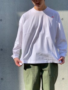 WAX (ワックス) Wide body L/S tee(ワイドボディL/S tee) WHITE