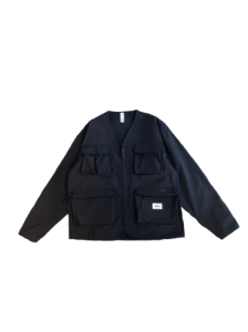 <img class='new_mark_img1' src='https://img.shop-pro.jp/img/new/icons14.gif' style='border:none;display:inline;margin:0px;padding:0px;width:auto;' />【残り1点】WAX (ワックス) Cameraman jacket (カメラマンジャケット) BLACK