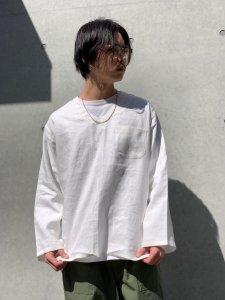 WAX (ワックス) Linen sleeping shirts (リネンスリーピングシャツ) WHITE