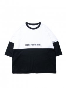 COOTIE (クーティー) Supima Cotton 2 Tone S/S Tee (スーピマコットン2トーンS/S Tee )  Black×White