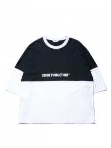 COOTIE (クーティー) Supima Cotton 2 Tone S/S Tee (スーピマコットン2トーンS/S Tee )  White×Black