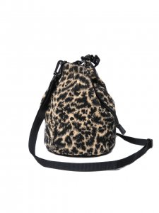 COOTIE (クーティー) Corduroy Leopard Drawstring Bag(ドローストリングバッグ) Leopard