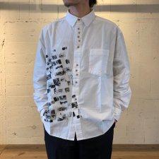 【40%OFF】JIMMY'Z (ジミーズ) `ZEYE`S Shirts (プリント長袖シャツ) WHITE