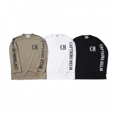 CAPTAINS HELM (キャプテンズヘルム) #LOCALS LOGO DRY L/S TEE (L/S TEE) WHITE