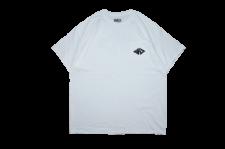 WAX (ワックス) Design tee (半袖プリント胸ポケットTEE) WHITE