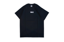 WAX (ワックス) WAX basic S/S tee (半袖プリントTEE) BLACK