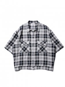 COOTIE (クーティー)  Linen Check Work S/S Shirt(リネンチェックワークS/Sシャツ) Check