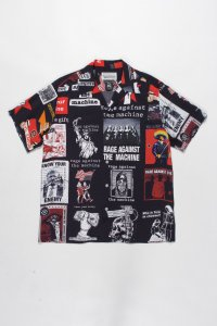 WACKO MARIA (ワコマリア) RAGE AGAINST THE MACHINE / S/S HAWAIIAN SHIRT (ハワイアンシャツ) BLACK