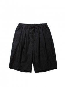 COOTIE (クーティー) Linen 2 Tuck Easy Shorts(リネンツータックイージーショーツ) Black