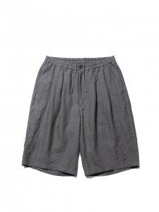 【残り1点】COOTIE (クーティー) Linen 2 Tuck Easy Shorts(リネンツータックイージーショーツ) Gray