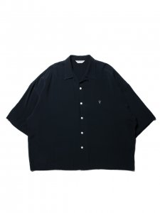 COOTIE (クーティー)  Rayon Open-Neck S/S Shirt (レーヨンオープンネックS/Sシャツ) Black